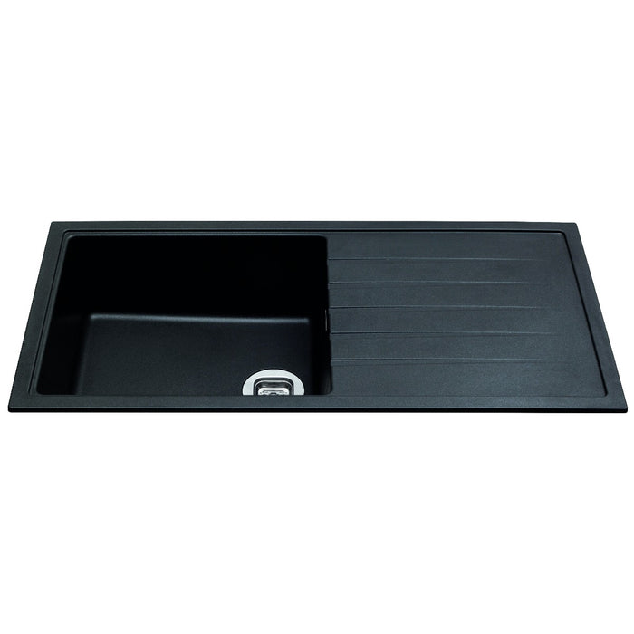 CDA KG43BL Composite single bowl sink (Black)