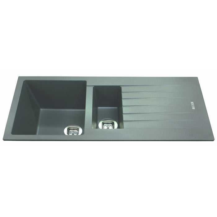 CDA KG74GR Composite one and a half bowl sink (Grey)