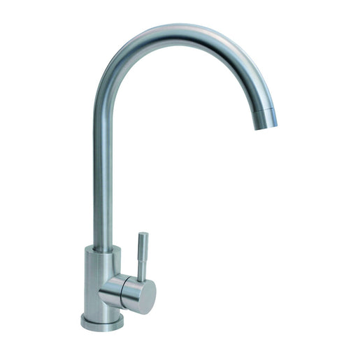CDA TC31SS Single lever swan neck stainless steel tap