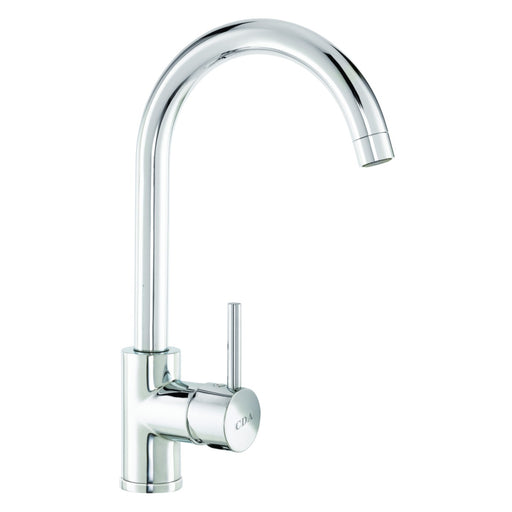 CDA TC57CH Side single lever tap with swan neck spout