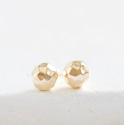 Large Hammered Ball Studs