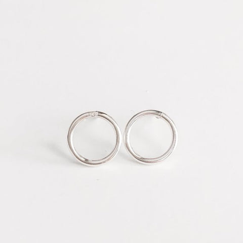 Smooth Open Circle Studs
