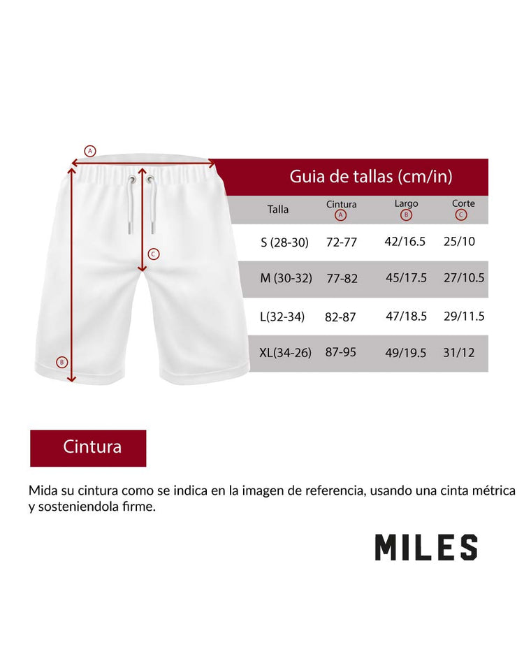 Graphic Short Blanco