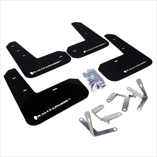 Rally Armor UR Mud Flaps Black with White Logo BRZ FR-S T86