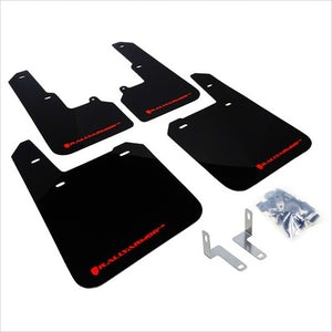 Rally Armor UR Mud Flaps Black with Red Logo Outback (2015-2018)