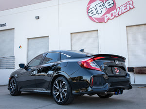 aFe Takeda 2.5in 304 SS Cat-Back Exhaust System w/ Blue Tips 17-20 Honda Civic Si Sedan I4 1.5L