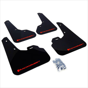 Rally Armor UR Mud Flaps Black with Red Logo Mazda3 / MazdaSpeed3 (2010-2013)