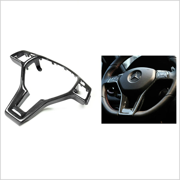 Autotecknic Carbon Fiber Steering Wheel Trim Mercedes