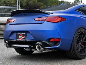 aFe POWER Takeda 2.5in 304 SS CB Exhaust w/ Polished Tips 17-19 Infiniti Q60 V6-3.0L (tt)