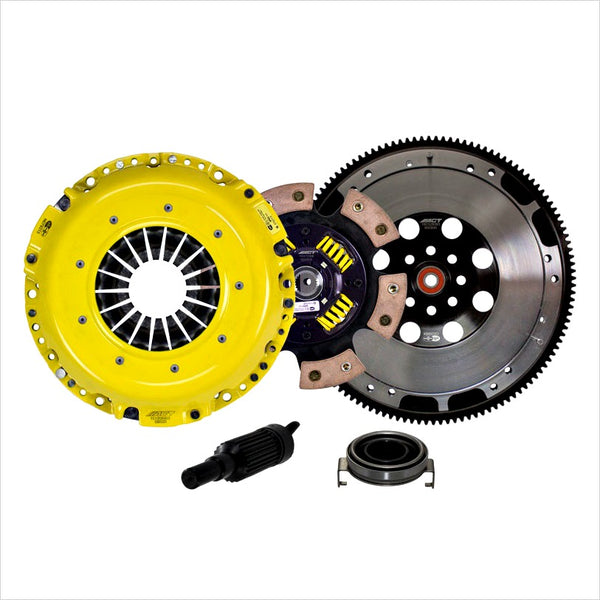 Close up of ACT Heavy Duty Race 6 Puck Clutch Kit w/ Flywheel WRX