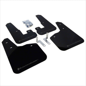Rally Armor UR Mud Flaps Black with Grey Logo Legacy (2010-2014)
