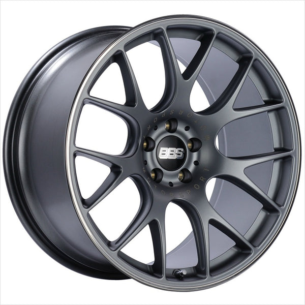 BBS CH-R Satin Titanium Wheel 18x8.5 5x112 38mm