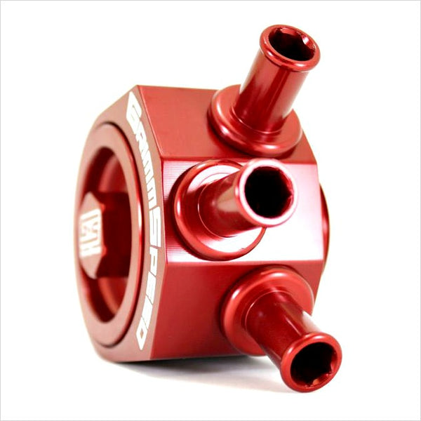 GrimmSpeed Air Oil Separator Red WRX (2002-2007) STI (2004-2020)