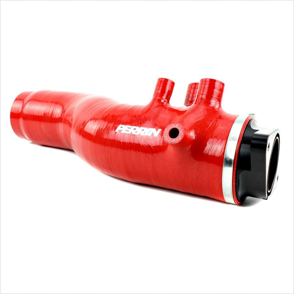 "Perrin 3.0"" Turbo Inlet Hose with Nozzle Red WRX (2015-2018)"