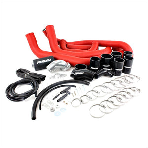 Perrin Front Mount Intercooler Piping Kit Red WRX (2008-2014)