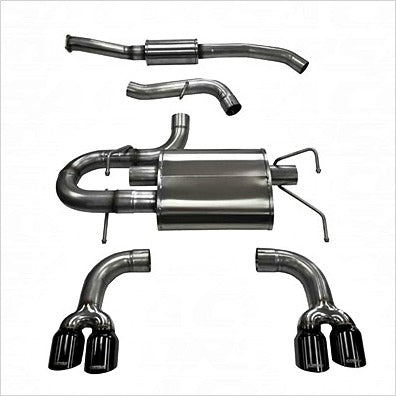 Corsa Catback Exhaust Black Tips WRX (2011-2014) STI (2008-2014) Hatchback