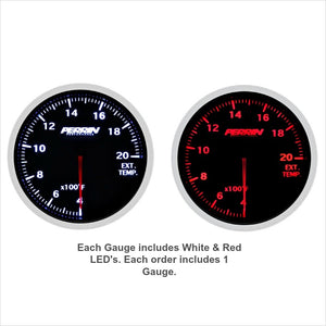 Perrin EGT Gauge 60mm 2000 Deg F