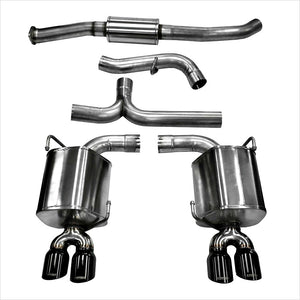 Corsa Catback Exhaust Black Tips WRX / STI (2011-2014) Sedan