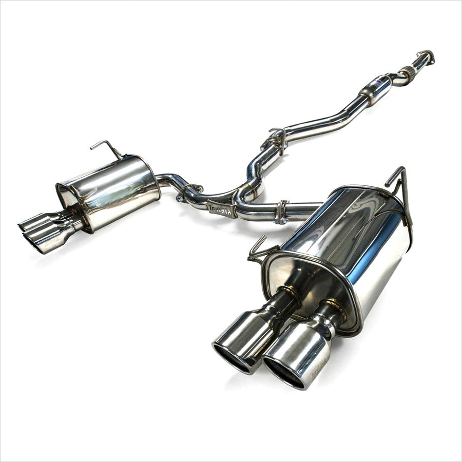 Invidia Q300 Catback Exhaust Steel Tips WRX / STI Sedan (2011-2014)