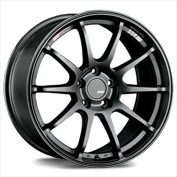 SSR GTV02 Flat Black Wheel 17x8 5x114.3 45mm