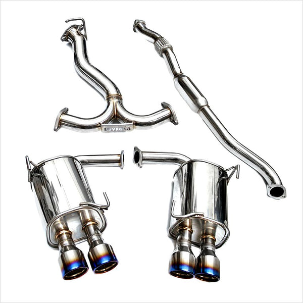 Invidia Q300 Catback Exhaust Titanium Tips WRX / STI Sedan (2011-2014)