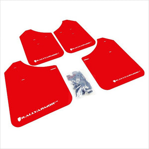 Rally Armor UR Mud Flaps Red with White Logo WRX / STI (2002-2007)