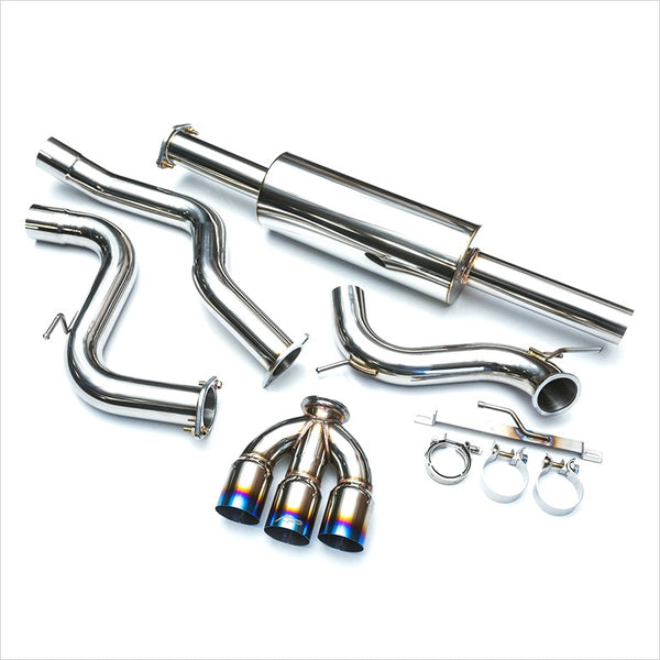 Agency Power Catback Exhaust Triple Titanium Tips Focus ST