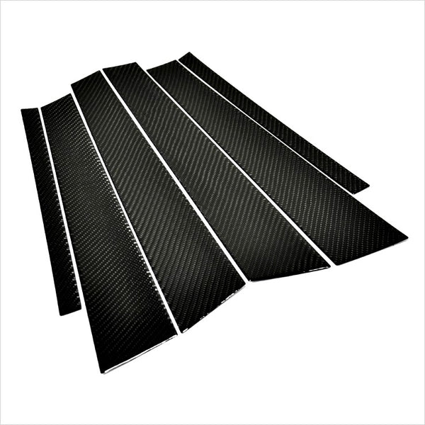 AutoTecknic Carbon Fiber B & C Pillar Trim Covers BMW F30 3-Series Sedan