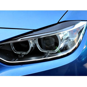 AutoTecknic Carbon Fiber Headlight Eyelids BMW F30 3-Series