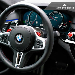 AutoTecknic Carbon Fiber Steering Wheel Top Cover BMW G30 5-Series / G32 6-Series GT / G11 7-Series