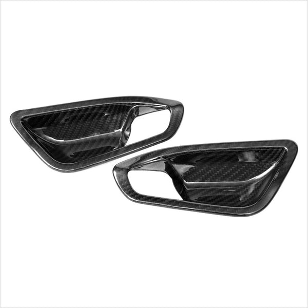 AutoTecknic Dry Carbon Fiber Interior Door Handle Trims BMW F22 2-Series & F87 M2