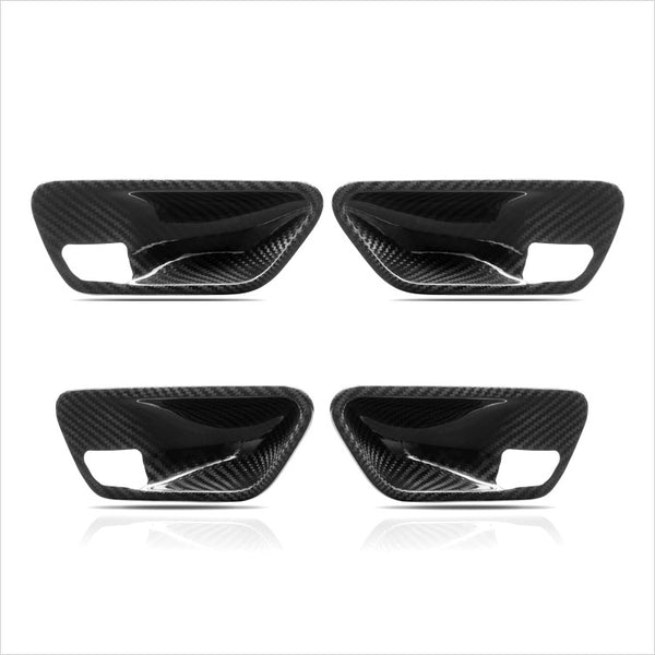 AutoTecknic Dry Carbon Fiber Interior Door Handle Trim BMW F30 3-Series & F80 M3