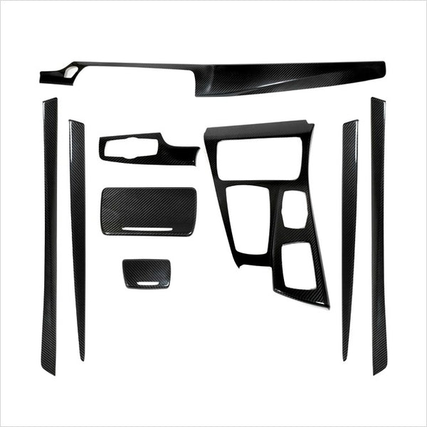 AutoTecknic Dry Carbon Fiber Interior Trim Overlay Kit BMW F10 5-Series