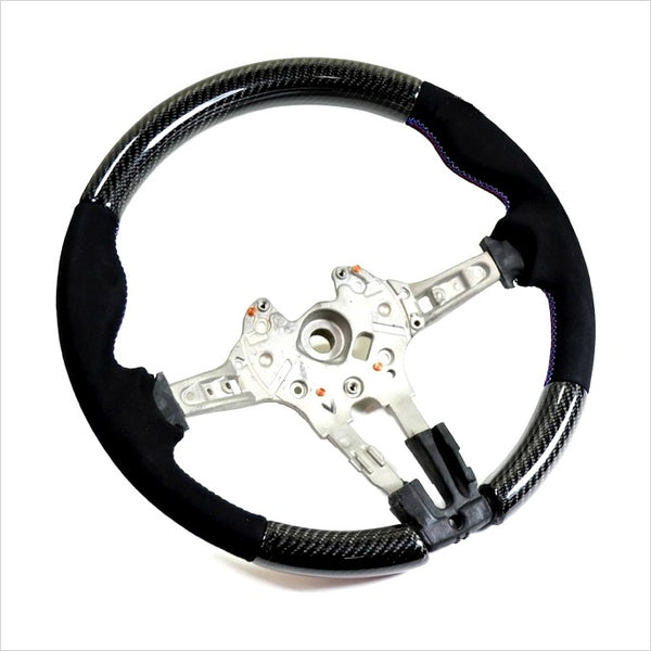 AutoTecknic Carbon Fiber Steering Wheel Alcantara Suede BMW F-Chassis M-Vehicles