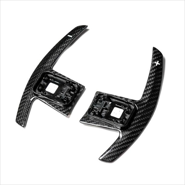AutoTecknic Dry Carbon Battle Shift Paddles White Indicators BMW F95 X5MC F97 X3M F98 X4M