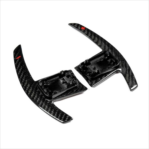AutoTecknic Dry Carbon Battle Shift Paddles Red Indicators BMW F95 X5MC F97 X3M F98 X4M
