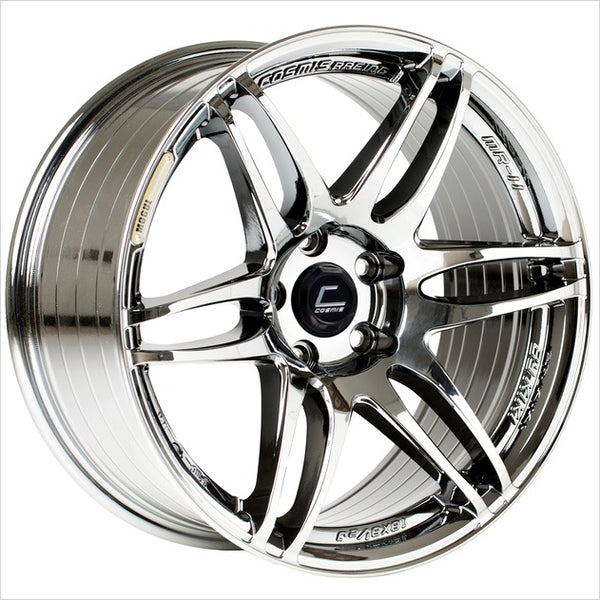 Cosmis MRII Black Chrome Wheel 15x8 4x100 +30mm