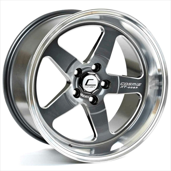 Cosmis XT-005R Gunmetal w/Machined Lip Wheel 18x10 5x114.3 +20mm