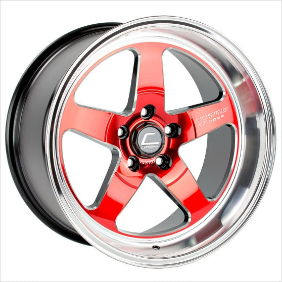 Cosmis XT-005R Red Machined Lip Wheel 18x10 5x114.3 +20mm