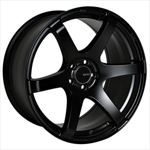 Enkei T6S Matte Black Wheel 17x8 5x114.3 35mm