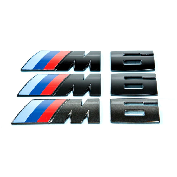 iND M6 Painted Black Trunk Emblem F06 F12 F13 M6