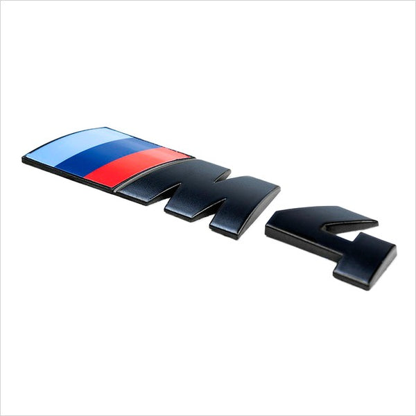 iND M4 Painted Matte Black Trunk Emblem BMW F82 M4