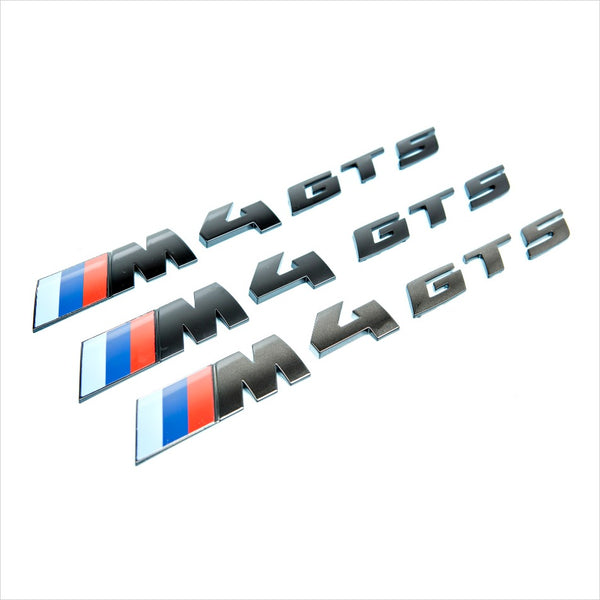 iND M4 GTS Painted Black Trunk Emblem BMW F82 M4