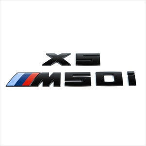 iND Painted Matte Black X7 M50i Trunk Emblem BMW G05 X5 M50i