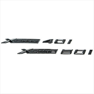 iND Painted Gloss Black X-Drive 50i Trunk Emblem BMW G07 X7 50i