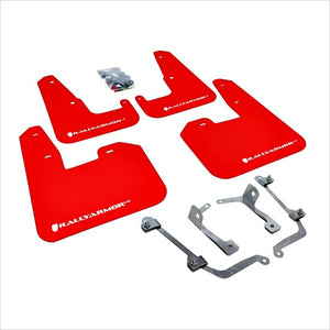 Rally Armor UR Mud Flaps Red with White Logo STI (2008-2014) WRX (2011-2014) Hatchback