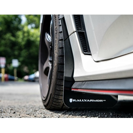 Rally Armor UR Mud Flaps Black with Red Logo Civic Type R