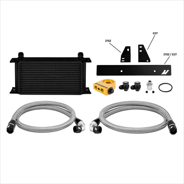 Mishimoto Oil Cooler Kit Thermostatic Black Nissan 370Z / Infiniti G37 Coupe
