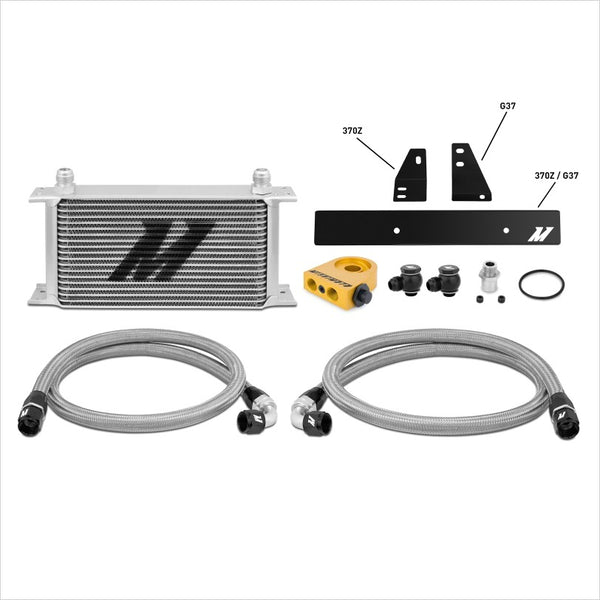 Mishimoto Oil Cooler Kit Thermostatic Silver Nissan 370Z / Infiniti G37 Coupe