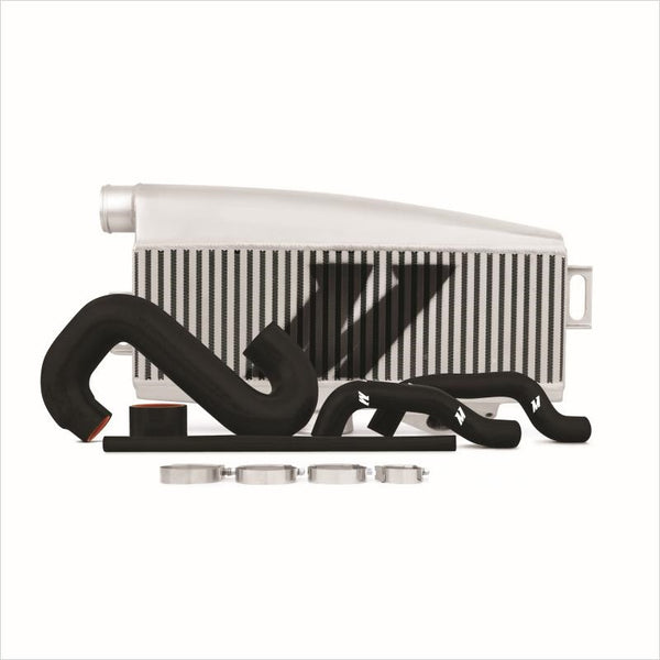 Mishimoto Top Mount Intercooler Silver w/Black Hoses WRX / STI (2002-2007)